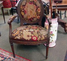French Needlepoint Armchair | Olde Mobile Antique Gallery