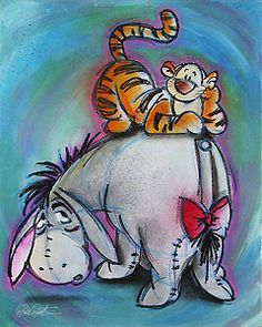 Select to ORDER Winnie the Pooh - Eeyore and Tigger - Along for the Ride - Original or for more details. Description from world-wide-art.com. I searched for this on bing.com/images