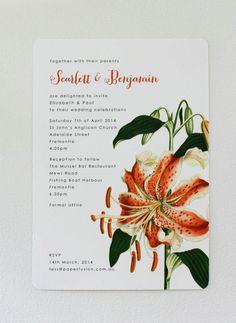 Botanical wedding invitation