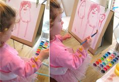 This pin is for stocking stuffers...but I love this tabletop homemade easel. Will so be doing this sooN!