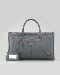 Balenciaga Giant 12 Rose Golden Work Bag - Neiman Marcus