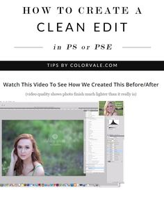 How to Create a Clean Edit Using Photoshop or Elements using The Fixings All-In-One Action OR Magical Light   Matte Perfect Exposure Action by Colorvale Actions (Images by Ashley Grier Photography). Watch the magic happen here: http://www.colorvaleactions.com/blog/how-to-create-a-clean-edit-using-photoshop-or-elements/