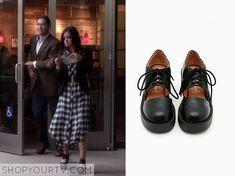 Pretty Little Liars: Season 5 Episode 15 Aria's Black Platform Lace Up Shoes
