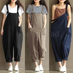 Womens Harem Hippie Baggy Hip Hop Overalls Dungarees Pants Jumpsuit Playsuits YT