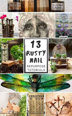 We searched high and low to find the most amazing rusty nail repurpose ideas and tutorials for you. So don't throw them away until you've seen all the crazy creative things you can do with them. #rustynail #repurpose #recycle #DIYtutorial #acraftymix #repurposetutorials #rustynailideas #rustynailcrafts #repurposednails Decor Crafts, Home Crafts, Fun Crafts, Diy And Crafts, Metal Letters, Box Signs, Diy Furniture Projects, Diy Recycle