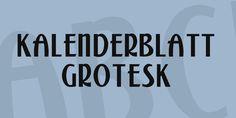 Kalenderblatt Grotesk free font
