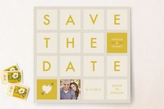 Squared Save the Date Cards by Amber Barkley at minted.com