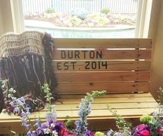 Personalized Southern wedding gifts idea:  Engraved bench and snuggly throw blanket, hand knit and fringed with couple's favorite colors.  Every reason to sit on the porch at night! Afghan by CricketsCreations