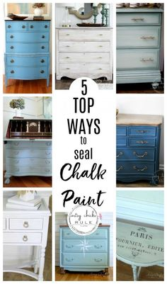The 5 Top Ways To Seal Chalk Paint (or Milk Paint!) The 5 Top Ways To Seal Chalk Paint (or Milk Paint!) Chris O. 5 TOP Ways […] painted furniture Refurbished Furniture, Repurposed Furniture, Furniture Makeover, Diy Furniture Renovation, Diy Furniture Repurpose, Diy Para A Casa, Diy Casa, Furniture Painting Techniques, Chalk Paint Colors Furniture
