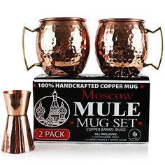 Moscow Mule Copper Mugs (Set of 2), Solid Copper Drinking... https://www.amazon.com/dp/B01LW30I5S/ref=cm_sw_r_pi_awdb_x_dDkuyb8QV9BC8
