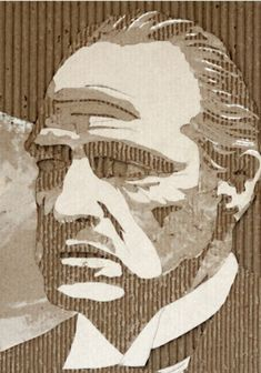 retrato cartón de Giles Oldershaw