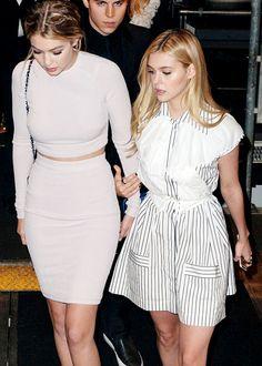 Nicola Peltz & Gigi Hadid leaving Karl Lagerfeld event 03/30/15