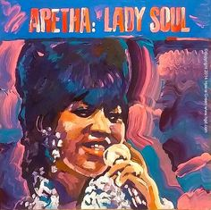 aretha franklin art images | Aretha Franklin Lady Soul album cover art painting | Flickr - Photo ...