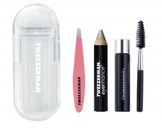Keep your brows looking perfect any time, any where with this convenient, travel sized brow essentials kit. Fits in any makeup bag or purse for quick touch ups on the go.    Kit Includes:    Mini Slant® TweezerMini Browmousse™Mini Brow BrushMini eyenhance™ Brow HighlighterStylish Travel Case