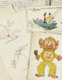 "Walter Trier (1890-1951, the illustrator of Kästner's ""Emil und die Detektive"") Sotheby's"
