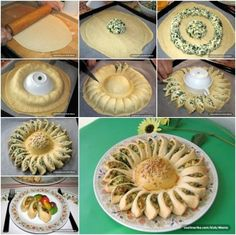 How to DIY Easy Pull Spinach and Cheese Sunflower Pie