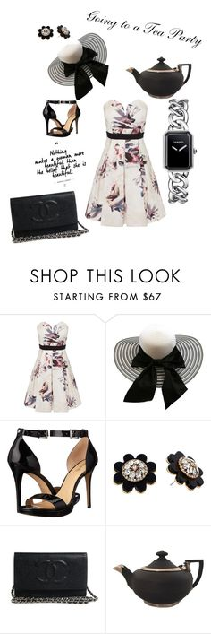 """Going to a Tea Party"" by stylz4gabby ❤ liked on Polyvore featuring Little Mistress, MICHAEL Michael Kors, Kate Spade, Wedgwood, Chanel and teaparty"