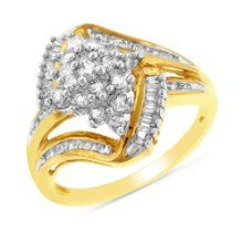 We are reluctantly presenting the sought after 0.75 Carat tw Diamond Cluster Ring in 10K Yellow Gold - size 7 for a great price. Don't miss out - buy the 0.75 Carat tw Diamond Cluster Ring in 10K Yellow Gold - size 7 here today!