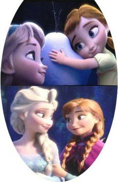 Photo of Elsa and Anna for fans of Frozen.
