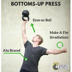 The Bottoms Up Press is a great and challenging kettlebell movement, view the detailed explanation here: https://www.kettlebellkings.com/kettlebell-flash-cards