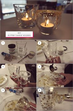 DIY – Glitter Candle Holders