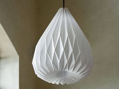 SNOWDROP XL origami lampshade by werkdepot on Etsy