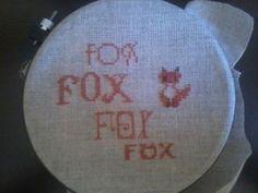 Fox Cross Stitch I made.