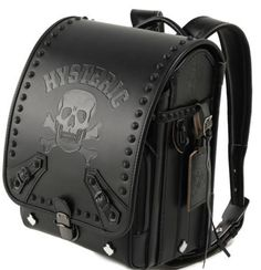 It's become a veritable symbol of Japanese elementary school students — the satchel, known locally as a randoseru. You can see other idiosyncratic randoseru designs on the LIRICO online store. Skull Fashion, Punk Fashion, Fashion Bags, Fashion Backpack, Leather Backpack, Leather Bag, Estilo Dark, Mode Sombre, Skull Purse
