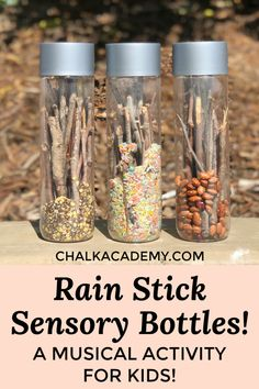Rainstick Sensory Bottles - A Musical Activity for Kids! (VIDEO)