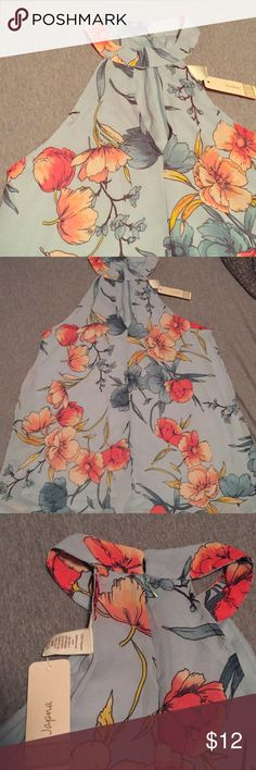 Beautiful high neck keyhole tank Nice and flowy, looks so pretty on. Tops