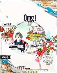 OMG! A layout by #emmatrout using #websterspages #'strawberry fields.
