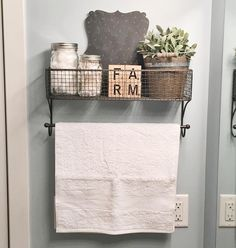 """252 Likes, 28 Comments - Alisha (@rusticfarmshack) on Instagram: """"Sharing for #FridayFarmhouseFavorites. I've been meaning to decorate the guest bathroom forever,…"""""""