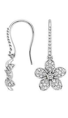 http://rubies.work/0514-sapphire-ring/ Plumeria Diamond Earrings in 18K White…