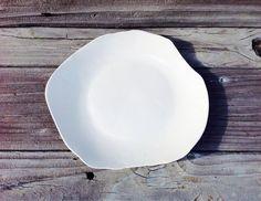 Dinner Plates, White Plates, White Dinnerware, Dinnerware Made in USA, White Dinnerware Sets, Unique Wedding Gifts, Pottery Dinnerware by DishesWithSoul on Etsy https://www.etsy.com/listing/192033089/dinner-plates-white-plates-white