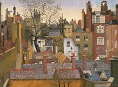 Cedric Lockwood Morris 1889–1982 From a Window at 45 Brook Street, London, W1 Date painted: 1926 Oil on canvas, 91.6 x 122.2 cm Collection: Amgueddfa Cymru – National Museum Wales