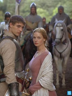 The White Queen (2013) Starring: Max Irons as Edward IV of England and Rebecca Ferguson as Elizabeth Woodville. (click thru for larger image)