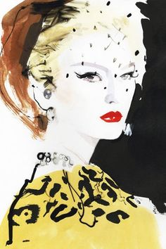 Born in Kent in UK artist David Downton worked as a freelance illustrator for 12 years before he found his true calling as a world-renowned fash. David Downton, Art And Illustration, Fashion Illustration Vintage, Fashion Illustrations, Design Illustrations, Arte Fashion, Fashion Fashion, Trendy Fashion, High Fashion