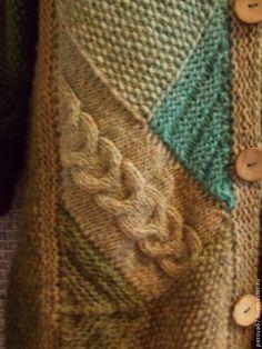 Верхняя одежда ручной работы. Пальто вязаное Лесная зелень. Ольга (Петельки и бусинки). Ярмарка Мастеров. Пальто вязаное