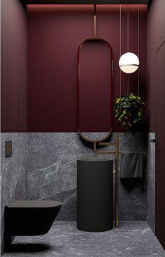 Estilo Art Deco, Bad Inspiration, Bathroom Inspiration, Bathroom Ideas, Bathroom Art, Bathroom Furniture, 1920s Bathroom, Bathroom Chandelier, Concrete Bathroom