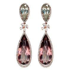 Anabela Chan 'Papillon' diamond tourmaline 18k gold detachable drop... (110.105 RUB) ❤ liked on Polyvore featuring jewelry, earrings, diamond drop earrings, 18 karat gold earrings, yellow gold earrings, diamond jewelry and 18k gold earrings