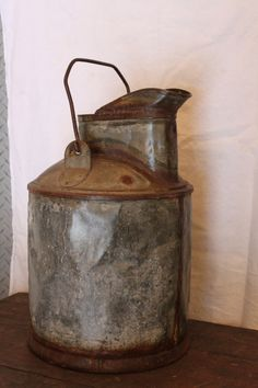 Antique 1800s Five Gallon Oil / Fuel Bucket by riverjim on Etsy, $48.00