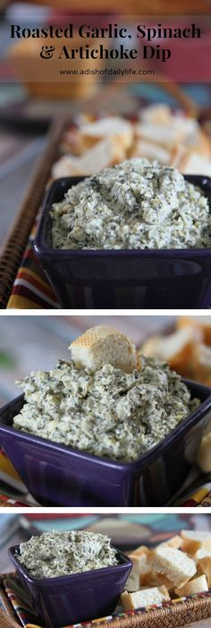 Add another dimension of flavor to your spinach and artichoke dip with roasted garlic!