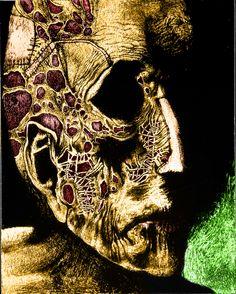 Zdzislaw Beksinski Dystopian Art, Art Folder, Macabre Art, Abstract Faces, Creepy Art, Portrait Illustration, Gothic Art, Horror Art, Artistic Photography