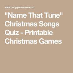 """Name That Tune"" Christmas Songs Quiz - Printable Christmas Games Christmas Quiz, Christmas Games For Family, Holiday Games, Christmas Party Games, Christmas Activities, Christmas Holidays, Christmas Crafts, Christmas Ideas, Xmas"