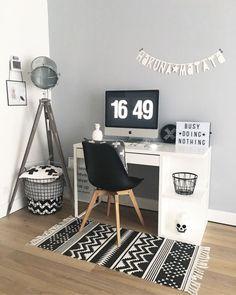 And.Interior * curtidas home в 2019 г. diy bedroom decor, home of Home Office Design, Home Office Decor, Home Decor, Desk Office, Office Spaces, Office Nook, Office Art, Decor Room, Diy Bedroom Decor