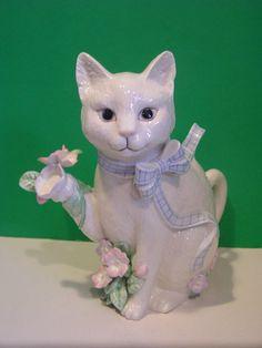 LENOX THE GARDEN CAT TEAPOT Sculpture kitten - NEW in BOX with COA | eBay