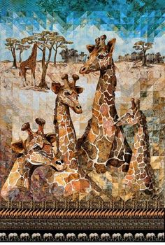 527765650053855250 Jigsaw Giants art quilt by Cassandra Williams