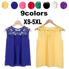 2017 new arrive fashion Women Summer Blouses O neck sleeveless patchwork lace plus size 5XL loose pure color Chiffon shirt 4293