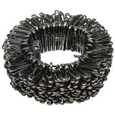 Safety Pin Bracelet, Safety Pin Jewelry, Safety Pin Earrings, Safety Pin Art, Safety Pin Crafts, Safety Pins, Goth Jewelry, Metal Jewelry, Fashion Jewelry