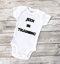 Star wars baby onesie, newborn onesie, going home outfit, bodysuit, custom onesie, birthday onesie, baby shower gift ideas, newborn baby by EatSleepDrool on Etsy https://www.etsy.com/listing/450660670/star-wars-baby-onesie-newborn-onesie